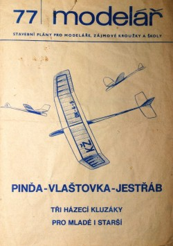 Pinda, Vlastovka, Jestrab model airplane plan