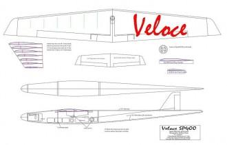 Veloce SP400 model airplane plan