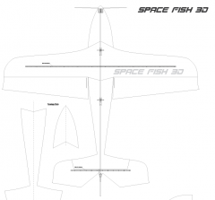 Space Fish-3D model airplane plan