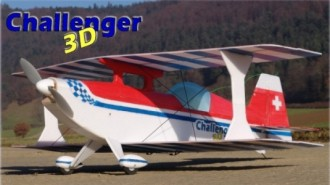Challenger 3D model airplane plan