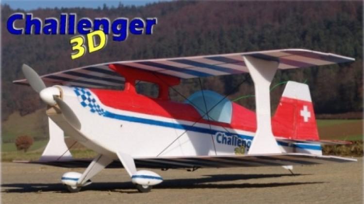 Challenger 3D model airplane plan