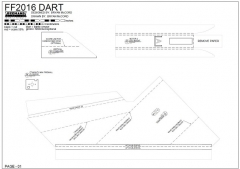 FF DART model airplane plan
