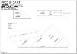 FF DART model airplane plan