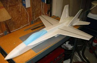 F-18 model airplane plan