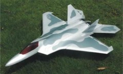 F-22 model airplane plan