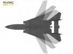 F-14 model airplane plan