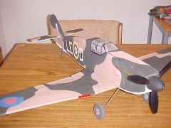 Hurricane model airplane plan