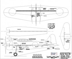Sorta' Zero 3D model airplane plan