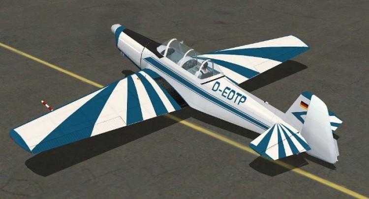 Zlin 526 AF model airplane plan