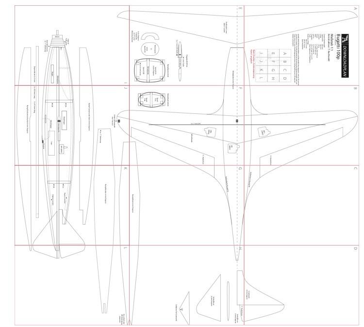 Bugatti 100p model airplane plan
