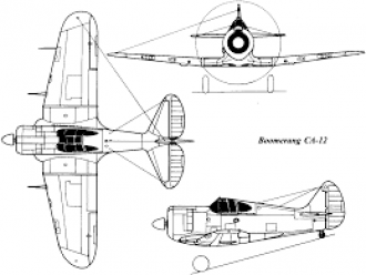CAC Boomerang model airplane plan