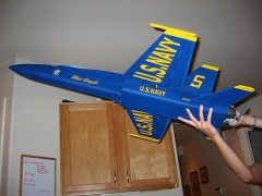 F/A-18 Hornet Foam Parkflyer model airplane plan