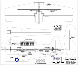 Sorta' Texy 3D model airplane plan