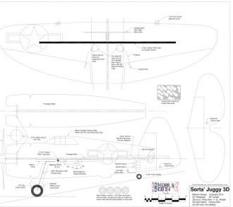 Sorta' Juggy 3D model airplane plan