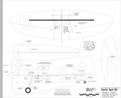 Sorta Spit 3D model airplane plan