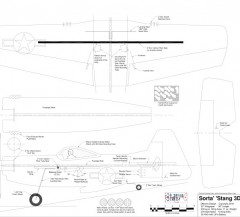 Sorta' 'Stang 3D model airplane plan