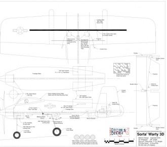 Sorta Warty 3D model airplane plan