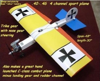 Das Plas-Stick model airplane plan