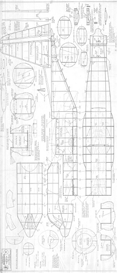 Hercules C-130 - 3 model airplane plan