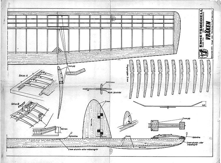 Vraken model airplane plan