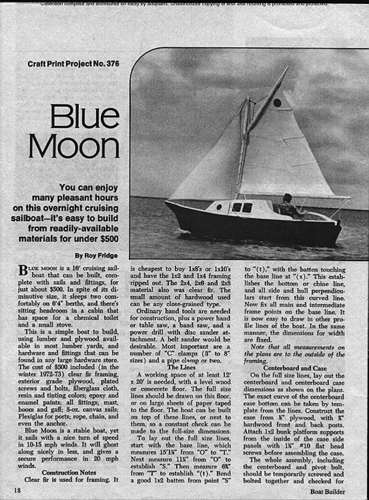 Blue Moon model airplane plan