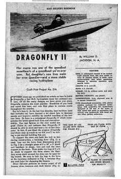 DragonFly II model airplane plan