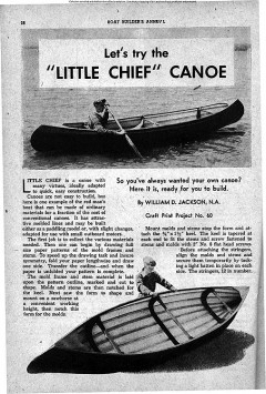 Little Chief Canoe model airplane plan