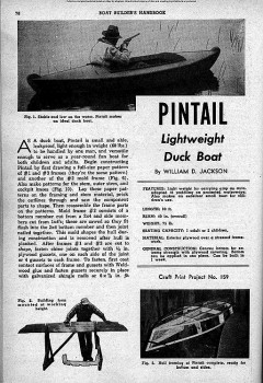 Pintail Duck Boat model airplane plan