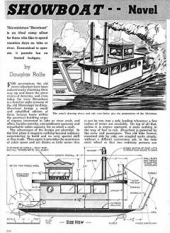 Showboat model airplane plan