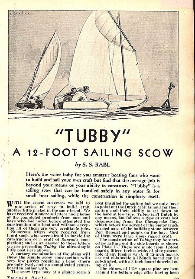 Tubby model airplane plan