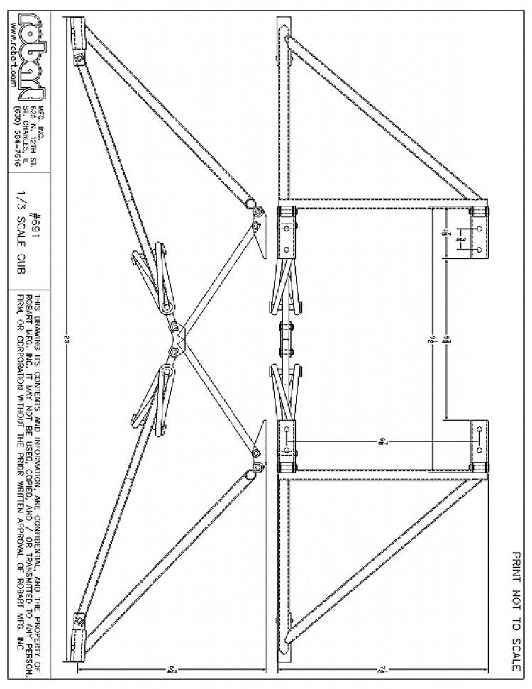 691 model airplane plan