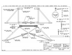 691Spare model airplane plan