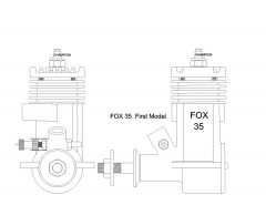 FOX35 model airplane plan
