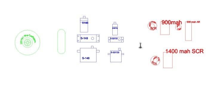 Servos Cells Wheel model airplane plan
