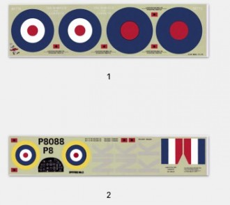 Supermarine Spitfire Mk IIA model airplane plan