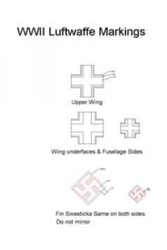 WWII LUFTEWAFFE model airplane plan