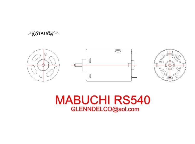 mabuchi540 model airplane plan
