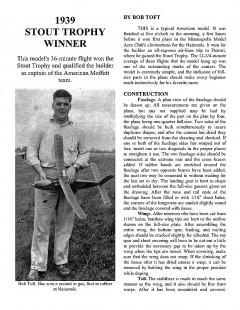 1939 STOUT TROPHY WINNER model airplane plan