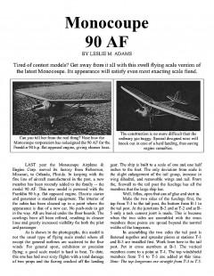 90AF model airplane plan