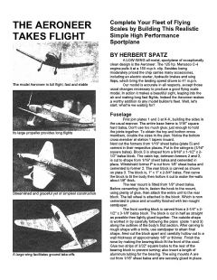 Aeroneer model airplane plan