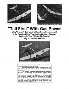 B Power Canard model airplane plan