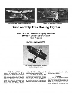 Boeing Fighter model airplane plan