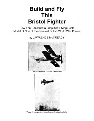 Bristol Fighter model airplane plan