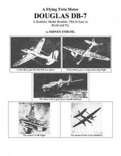 Douglas DB-7/A-20 Havoc model airplane plan