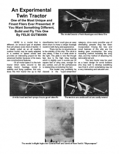 Experimental Twin model airplane plan
