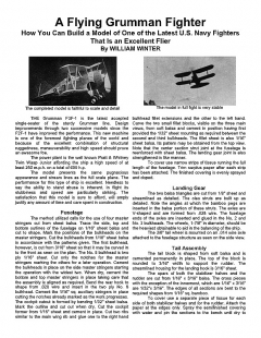 Grumman Fighter model airplane plan