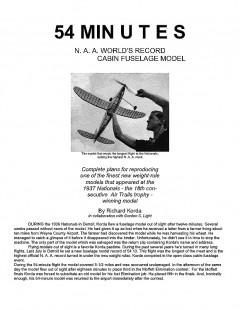 Korda54 model airplane plan