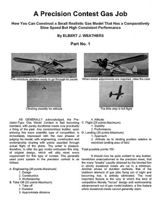 Precision Gas Model Pt1 model airplane plan