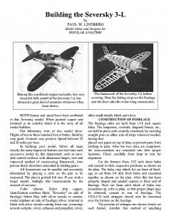 SEV-3L model airplane plan