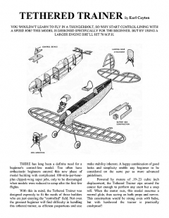 TETHERED TRAINER. model airplane plan